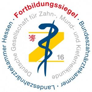 Fortbildungssiegel der LZKH 2016Landeszahnärztekammer Hessen